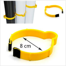 10Pcs Yellow PVC 8cm Auto Car Wrap Sticker Clamp Vinyl Film Sheet Roll Ring Clip