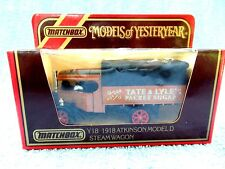 MATCHBOX MODELS OF YESTERYEAR Y18 1918 ATKINSON STEAM WAGON [TATE & LYLE'S]