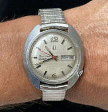 VINTAGE BULOVA ACCUTRON 2182 STAINLESS CASE TUNING FORK MENS WATCH
