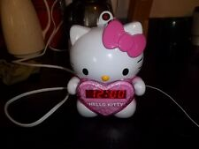 Hello Kitty Pink AM/FM Projection Clock Radio w/ Battery Back-Up