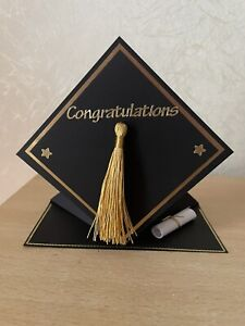 Handmade Personalised Graduation Cap Shaped Card Stand Up Son Daughter Friend