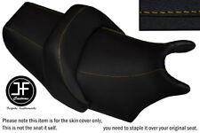 DSG2 YELLOW STITCH VINYL CUSTOM FOR YAMAHA V MAX 1200 FRONT + REAR SEAT COVERS