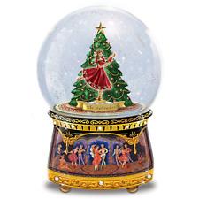"Nutcracker Musical Glitter Snow Globe Plays ""Dance of the Sugar Plum Fairy"" NEW!"
