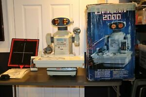 Vintage 1984 Tomy OmniBot 2000 Robot & Tray W/ Remote & BOX!!! HOLY GRAIL