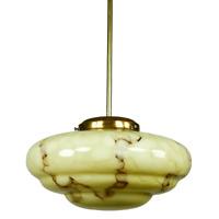Art Deco Marmor Glas Stab Pendel Leuchte Hänge Lampe marmoriert 30er 40er Jahre