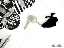 Key chain - Back to the future Delorean Minimalist Film Silhouette