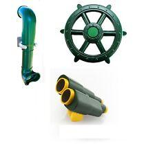GREEN Playground Accessories Kit Jumbo Ship Wheel Binoculars Periscope Cubby