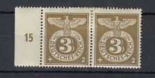 Germany 1943 3 & 2 pf Pair Eagle WWII Control Margin MH J4490