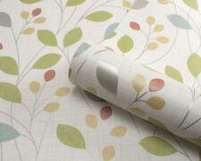 Belgravia Isla Blown Vinyl Wallpaper Retro Leaves Trail Sparkle Citrus 4102-a Roll