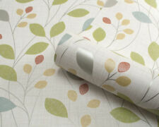 Belgravia Isla Blown Vinyl Wallpaper Retro Leaves Trail Sparkle Citrus 4102-b Roll