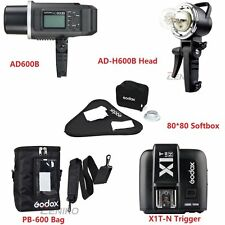 Godox AD600B 600w TTL HSS Flash + Trigger For Nikon Studio Softbox Lighting Kit