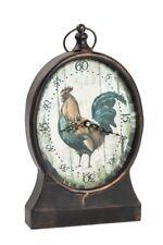Orologio da appoggio camino gallo anticato vintage