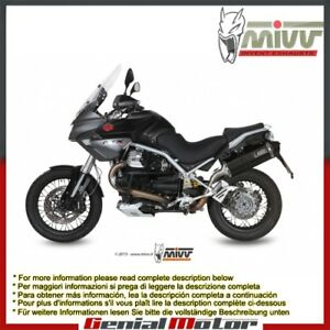 Mivv Exhaust Muffler Speed Edge Black Steel Moto_Guzzi Stelvio 2014 14
