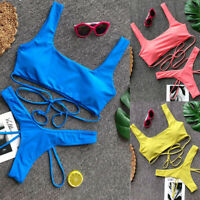 Sexy Push-up Padded Bra Bandage Bikini Set Women's Swimwear Bathing Beachwear