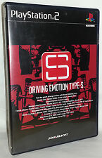 DRIVING EMOTION TYPE-S SQUARESOFT USATO OTTIMO SONY PS2 JAP NTSC/J VBC 52885