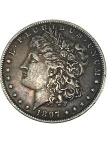 1897-O US Morgan Silver Dollar Coin Great Condition Clean Cheek #C398