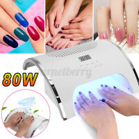 80W Led Lamp Nail Dust Collector Machine Salon USB Charging Vacuum Cleaner Tool