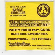 (FW189) The Perceptionists Feat. Guru, Party Hard - 2005 DJ CD