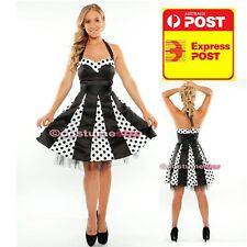 50s Retro  Dress Black white W/ petticoat size 16