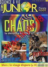 Science et vie junior n°105 du 06/1998 Chaos Python Serpent Mars Douleur