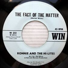 RONNIE the HI-LITES mint minus WIN 45 Fact Of The Matter You Keep Me Guessin F21