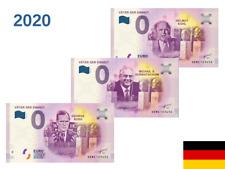 3 Billets Euros Schein Souvenir Touristique 2020 Vater der Einheit XEMZ