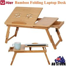 Bamboo Folding Laptop Bed Reading Desk For Notebook Computer iPad Stand Table Z
