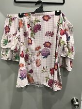 City Chic Top Spring Bloom Ruffle Sleeve Off ShoulderSize Xl Brand New With Tags