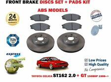 FOR TOYOTA CELICA ST162 2.0 + GT 1986 >NEW ABS FRONT BRAKE DISCS SET + PADS KIT