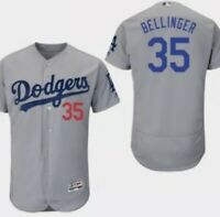 Cody Bellinger Los Angeles Dodgers Flex Base Jersey Gray Mens M-2XL