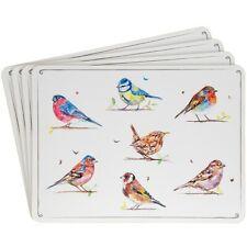New Leonardo Country Life Birds Set Of 4 Laminated  Place Mats Table Mats