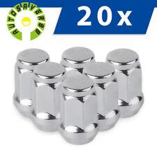 20 Chrome Bulge Acorn Wheel Lug Nuts for Dodge Nitro D150 1500 2500 Ram 3500 Van