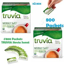 X2 BOX Truvia Calorie Free Naturally Sweetener Stevia Leaf 400 Packets