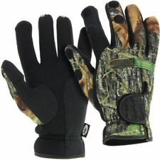 Neoprene Fishing Camo Gloves Folding Fingers Shooting Hunting NGT All Sizes Medium