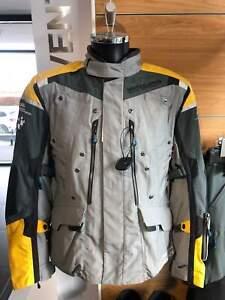 BMW Motorrad Rallye Gray/Yellow Jacket Men's Motorcycle/Motorbike RIDE
