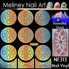 NF313 Flower Star Nail Vinyl Sticker decoration Stencil Vinyls Art Craft Supply