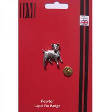 Jack Russell Dog PELTRO bavero pin badge proprietario AMANTE Club Regalo Scatola