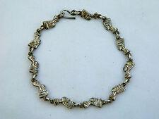 """Egyptian Sterling Silver Queen Nefertiti Oxidized Bracelet 9"""" Long # 218"""