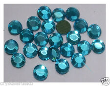 72 Ss30 Azul Capri termoadhesivos Hot Fix Rhinestone Diamante