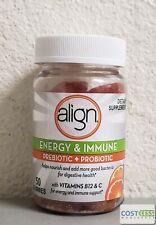 Align Energy & Immune Prebiotic Probiotic Supplement Gummies Citrus Flavor 50 ct