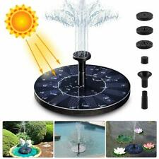 LIUMY Solar Fountain Pump, 1.4W 150L / H Circle Solar Power Water Fountain Panel