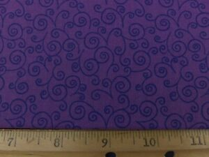 Cotton Quilting Sewing Fabric VIP Quilting Treasures Plum Tonal Blender 2008 02