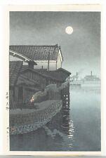 Japanese woodblock print, Hasui Kawase. Lot 464