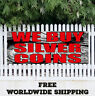 Banner Vinyl WE BUY SILVER COINS Advertising Flag Sign Rare Jewelry Gold Cash