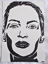 A4 Bolígrafo Marcador de arte actriz Uma Thurman Poster Dibujo
