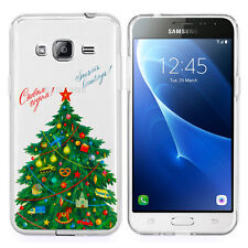 Coque Silicone Ultra-Fine Xmas Arbre Samsung Galaxy Express Prime 4G LTE J320A