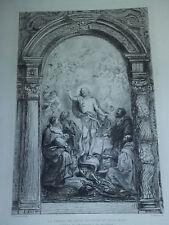 Ancienne RUBENS Le Christ triomphe du péché et de la mort - Eau forte Waltner