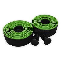New Shimano PRO Sport Control EVA Handlebar Bar Tape Set Road Bike - Black/Green