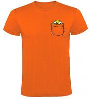 Camiseta Hora de Aventuras Jake en bolsillo Hombre varias tallas y colores a033