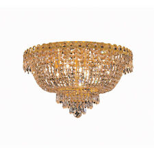 FRENCH EMPIRE FLUSH MOUNT GOLD CRYSTAL CHANDELIERS KITCHEN DINING ROOM BEDROOM